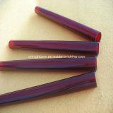 ルビー色の水晶ガラス管のヒーター