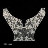 Flower Patch шаблон пользовательского одежду с вышивкой втулку Lace Applique X030