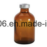 50 Ml de tipo II e III tubo de ensaio de vidro moldado ambarino da injeção para antibióticos