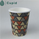 Tazas de café de papel negras