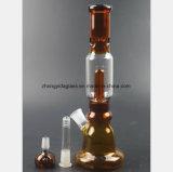 Bernsteinfarbige Huka für Filter-Öl-Wiederanlauf-Glas-Rohr