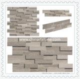 ビル用の白い木製の大理石スレート文化の石の壁クラッディング