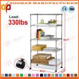 Chrome House Office Kitchen Ikea Storage Wire Estante de rodas (Zhw150)