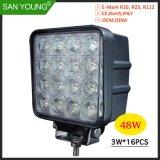 4-дюймовый 48Вт Светодиодные фары дальнего света на 4 дюйма и фары Projecto светодиодный индикатор работы рабочей 12V 24V Lite