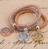 De nieuwe Armband van de Keten van de Kleur van de Juwelen van de Armbanden van de Armbanden van de Manier Gouden om de Holle Armbanden van de Charme voor Vrouwen