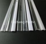 Difusor de luz acrílica para perfil de LED de alumínio