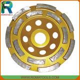 Diamond Двухрядным шлифовальные чашки колесный диск для конкретных