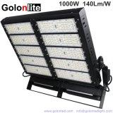 140lm/W Ce RoHS 100-277V 347V 480V IP66 el 25 de 40 grados de iluminación exterior de 1000W de luz LED de alta potencia