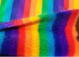 Pelliccia del Faux delle azione della pelliccia di falsificazione del coniglio del Rainbow