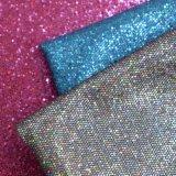 Couro artificial gravado PONTO do plutônio do couro de sapata do Glitter