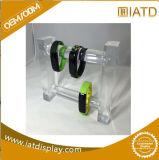 Sauter vers le haut la crémaillère en plastique de présentoir de contre- de Tableau de stand tuiles au détail acryliques de mémoire pour le bijou