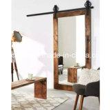 Preiswerte Schlafzimmer-Tür wir Eichen-/Kiefernholz-Rahmen-schiebendes Glas-Tür zum Verkauf