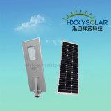Fabricant directement à la vente tout-en-un voyant rue lumière solaire 80W