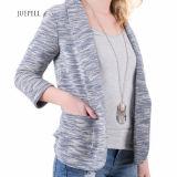 Rivestimento a strisce delle donne della giacca sportiva della Jersey