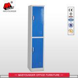 De blauwe Kast van de Rij van de Opslag van het Metaal van het Personeel van het Bedrijf van Twee Deur Kleding Gebruikte