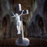 Statua di marmo bianca del Jesus, scultura religiosa