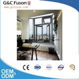 Finestra di vetro aperta esterna di alluminio superiore economica di Ventical con colore bianco