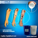 Próteses de cor de pele de borracha de silicone de tomada do lado da prótese