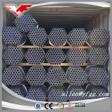 Tubos de acero roscado galvanizado por inmersión en caliente con acoplamiento de acero y tapas de plástico