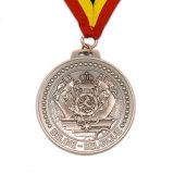 Медаль пожалования почетности высокого качества изготовленный на заказ с тесемками