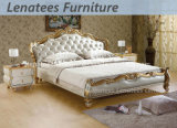 E305高貴なデザイン家具のイタリアの革ベッド