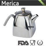 Pot en acier inoxydable en bois et pot de thé