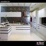光沢度の高い現代台所MDFの良質のアクリルの食器棚