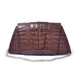 주문 호화스러운 디자인 여자를 위한 실제적인 악어 가죽 이브닝 백 핸드백