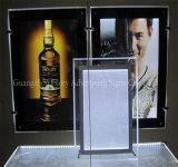 Publicidad del rectángulo ligero delgado al aire libre del LED y de interior de aluminio