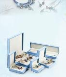 Contenitore di monili di cuoio blu-chiaro all'ingrosso dell'unità di elaborazione