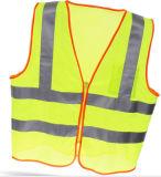 Alta maglia di sicurezza di visibilità con nastro adesivo a cristallo