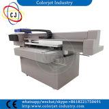 Cj-9060uvt fasten Druckgeschwindigkeit mit Doppelt-Kopf-UVdrucken-Maschine auf keramischem