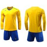 Lange Hülse passen Fußball-Fußball-Trainings-T-Shirt Quick-Dry laufendes Sportwear an