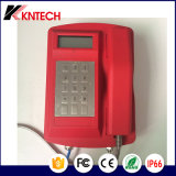 키패드 Koontech Knsp-18L를 가진 VoIP LCD 비바람에 견디는 비상 전화