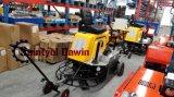Giro concreto di funzionamento del Trowel di potere di larghezza di 75 pollici sul Trowel con il motore di benzina della Honda Gx690