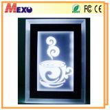 Lumière en cristal acrylique de nuit de DEL avec la DEL éclairée à contre-jour (CLN01)