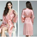Платье пижам женщин 100% Nightwear роб Ladie Silk реальное Silk