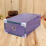 서랍 또는 공간 플라스틱 상자를 가진 명확한 구두 상자