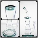 Pipe en verre avec outil de recyclage et d'Honeycomb Percalator et l'épaisseur et de belles porte-parole de base
