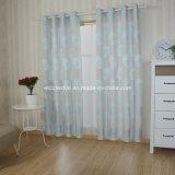 Cielo azul de lino típica cortina Tocar