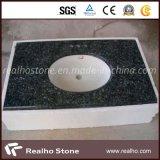Parti superiori blu/stanza da bagno di vanità del granito della perla con il doppio dispersore di ceramica