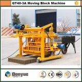 機械、移動式煉瓦機械(QT40-3A)を形づける具体的な移動煉瓦