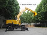 Máquinas escavadoras de Chinawheel do carregador do registro para a venda