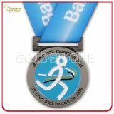 Medaglia d'argento dello smalto di qualità superiore di promozione del metallo molle di evento