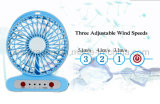 Ventilatore a pile tenuto in mano multifunzionale di plastica del USB del piccolo scrittorio mini