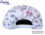 Logotipo bordado en 3D Sombreros Snapback granel con el patrón de impresión