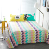 200tc simple Style Printing Cotton Bed Sheet