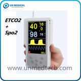 De handbediende Sidestream/Monitor van de Heersende stroming Etco2 met SpO2