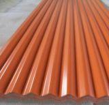 Lamiera di acciaio galvanizzata ondulata preverniciata del materiale da costruzione di Dx51d in bobine