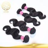 ボディ波の人間の毛髪の拡張100%加工されていない卸し売りバージンのペルーの毛